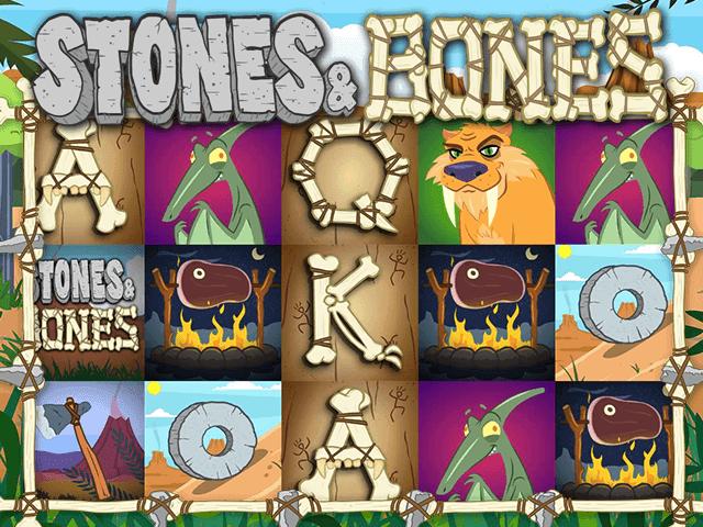 Игровой автомат Stones And Bones с азартным геймплеем